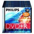 PHILIPS DVD+R diskas 4,7GB 16X slim box