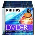 PHILIPS DVD-R diskas 4,7GB 16X slim box