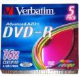 VERBATIM DVD+R diskas 4,7GB 16X slim box 5pack  - 43556